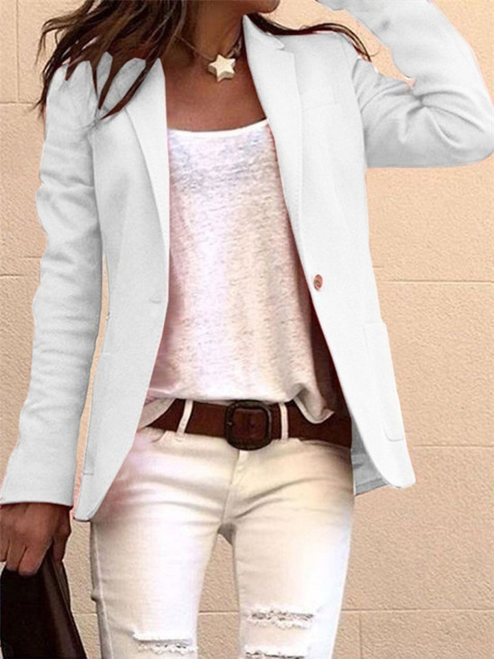 Slim Fit Formal Blazers Jacket with Single Button