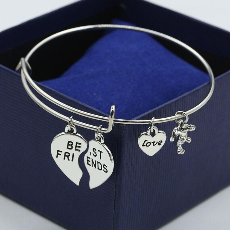Cute Best Friends Love Lettered Friendship Bangle