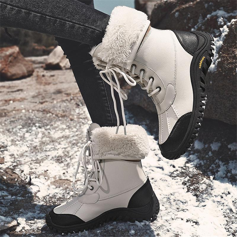 Cozy Warm Lace-up Waterproof Non-Slip High-Top Snow Boots