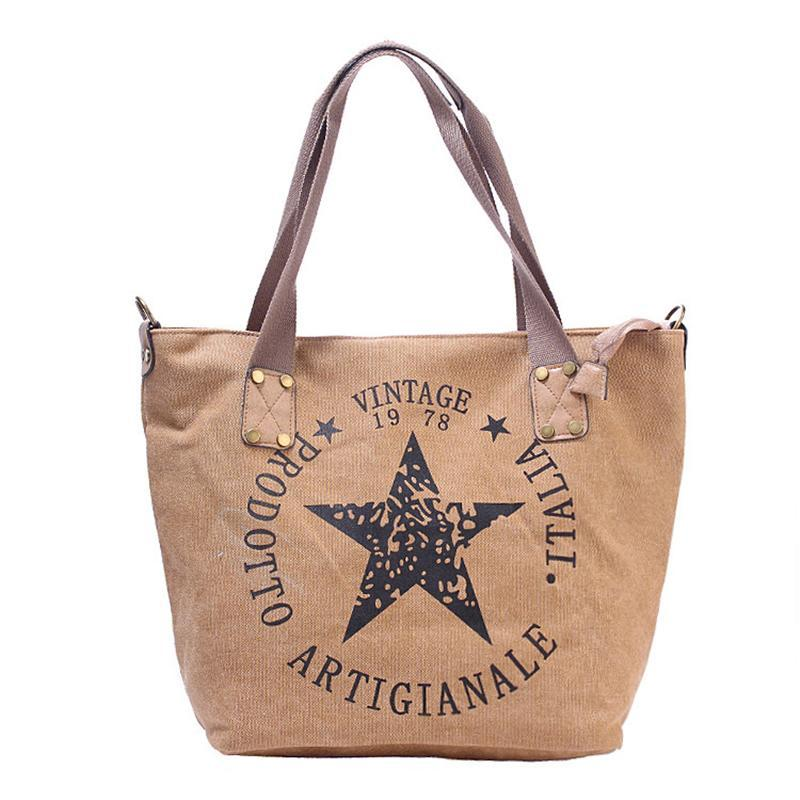 Canvas Pentagram Handbag