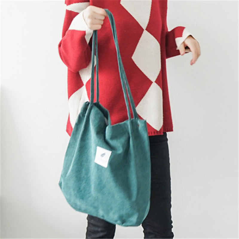 Casual High Capacity Durable Corduroy Totes Bag