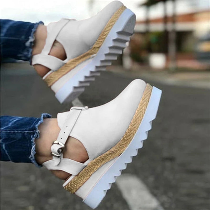 Fashion Antiskid Wedge Heel Suede Shoes For Women