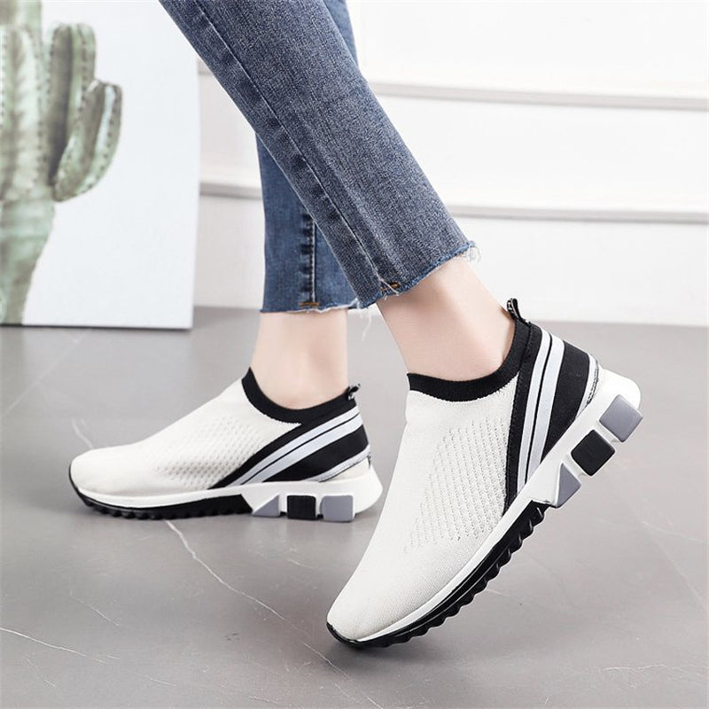 Women Casual Mesh Breathable Flat Sneakers