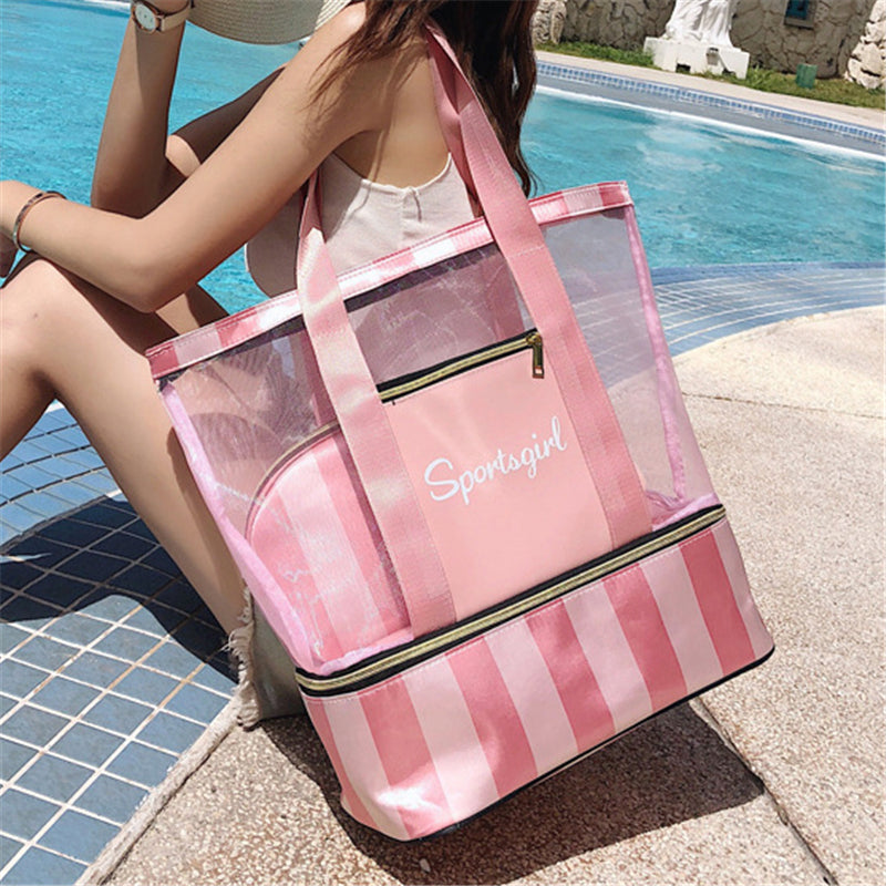 Wet & Dry Separation Waterproof Extra-Large Beach Tote Bag