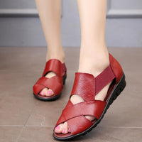 Genuine Leather Soft Outsole Antiskid Flat Sandals