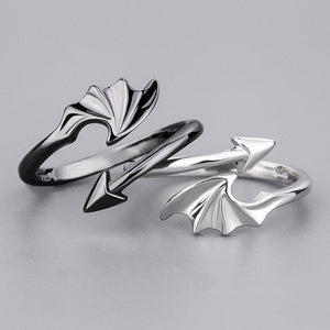 Open Couple Ring Angels And Demons Simple Adjustable Size Rings