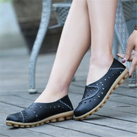 Women's Comfy Anti-Skid Nurse's Soft Flat Loafers Shoes
