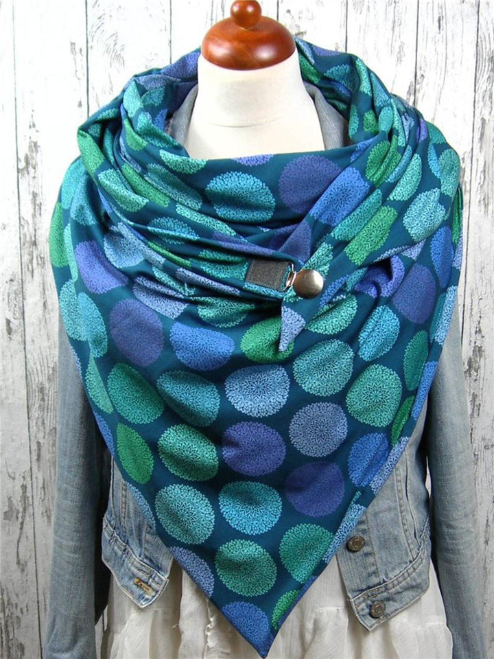 Ultra Comfortable Printed Neck Warmer Triangle Scarves & Shawls