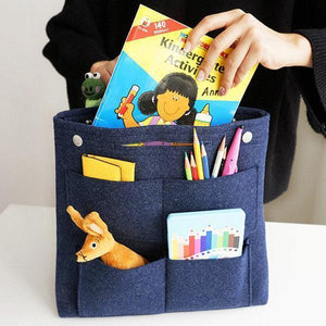 Bag in Bag Multi-pockets Felt Casual Travel Storage Bag