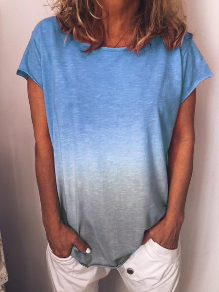 Casual O-Neck Short Sleeve Shirts & Tops