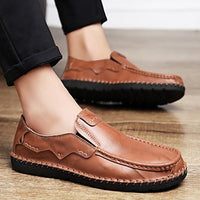 Men Casual Hand Stitching Slip-On Oxfords