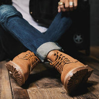 Men Fashion High-top Lace-up Martin Boots