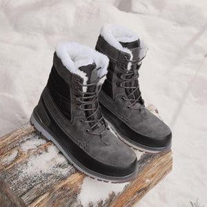 Men High Help  Lace-up Waterproof Snow Boots