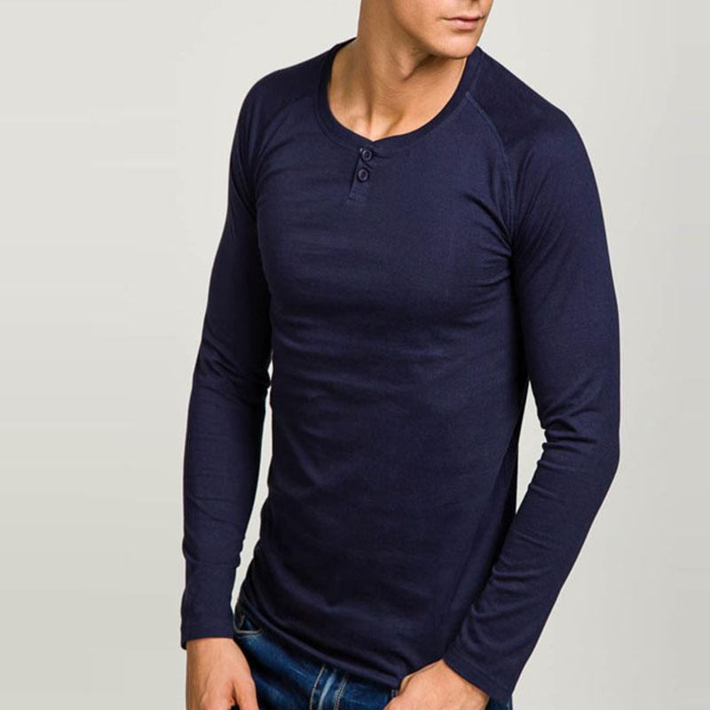 Men's Casual Solid Color Long Sleeve Shirt