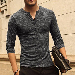 Mens Loose Cotton Button Long Sleeve Shirts