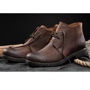 Mens Casual LVintageCow Split Leather Boot