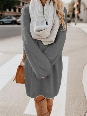 O Neck Women Winter Casual Long Sweater
