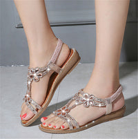 Fashion Shinning Crystal Comfy Sandals For Women