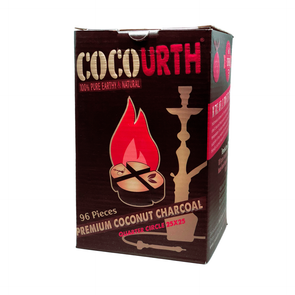 CocoUrth Coals 96 Pack Quarter Circles, Hookah Charcoal - CocoUrth, Oxide Hookah