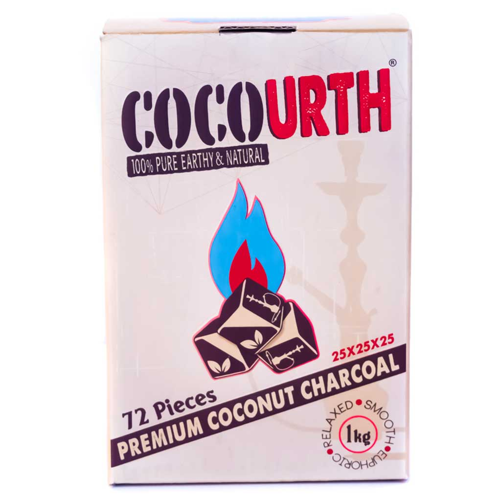 Cocourth Cubes Hookah Coals- 72 Piece Coconut Charcoal
