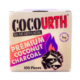 CocoUrth Mini Cube Coals - 101 Piece Box Coconut Charcoal