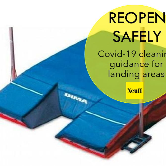 Covid 19 cleaning guidance for athletics landing areas