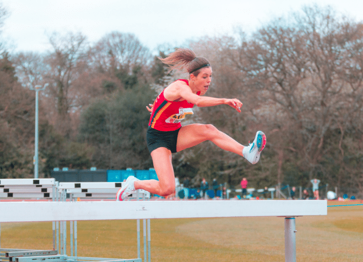 Steeplechase training with Maisie Grice