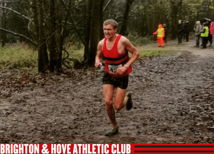 Kevin Moore running for Brighton & Hove Athletics Club