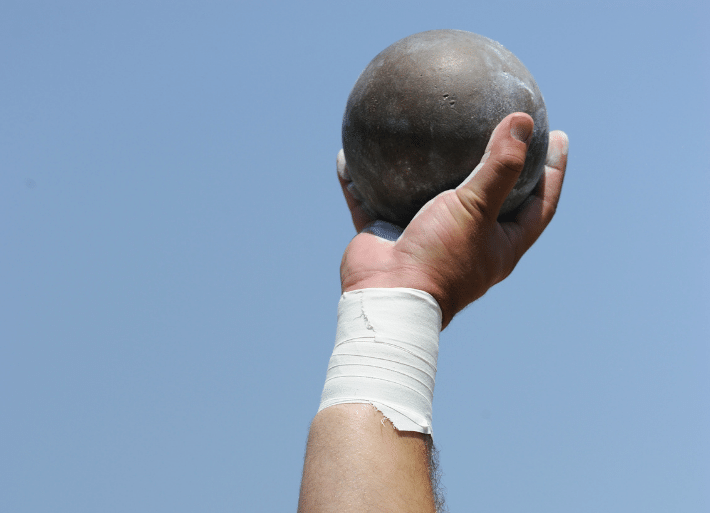 Which grip product is best for shot put?