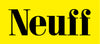 Neuff Athletic logo: yellow background with black text