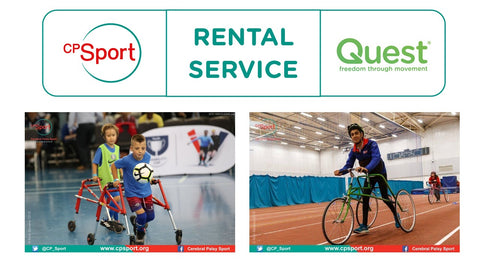 RaceRunning Frame Rental service from CP Sport and Quest for Cerebral Palsy para athletes