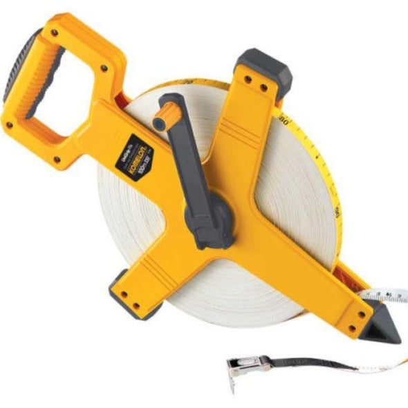 100m open reel tape measure suitable for use in sandy conditions