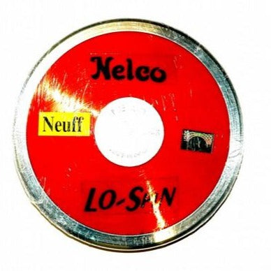 Nelco red plastic discus with a steel rim