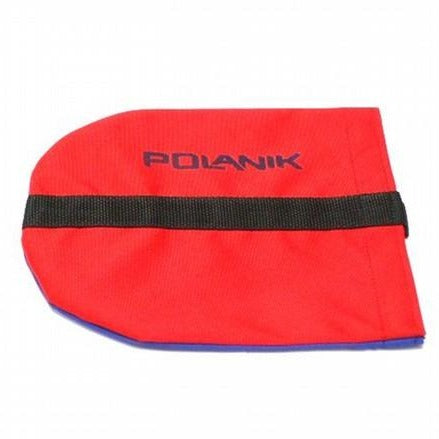 red Polanik discus bag with black strap