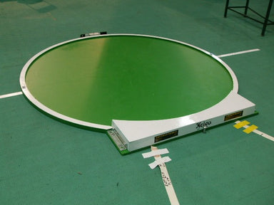 Mdf circle for indoor shotput.  Includes a shot stop board