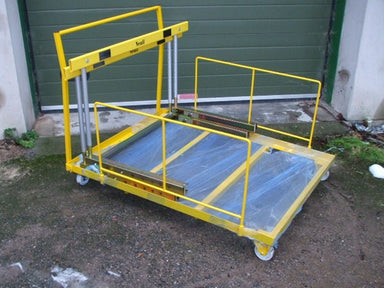 Yellow hurdle trolley to fit up to 10 IAAF/UKA certified hurdles