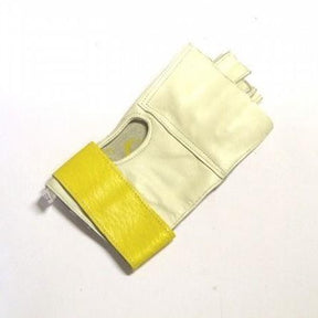 Hammer throwing glove with hook and loop wrist strap