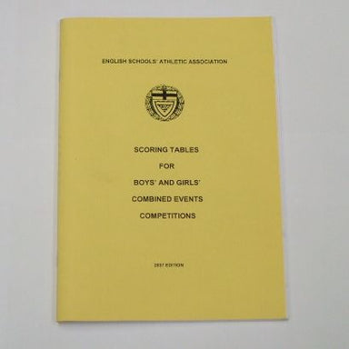 English Schools Scoring tables for boys and girls combined events competitions