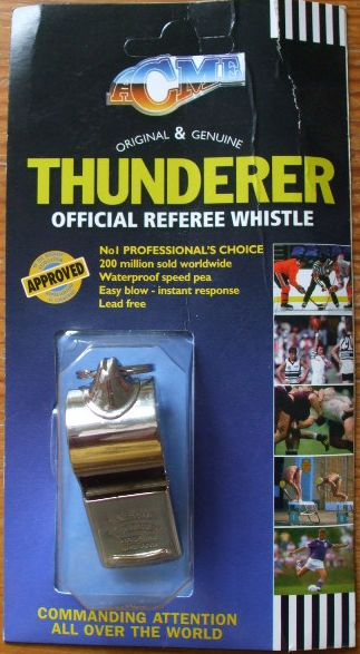 Metal referee whistle that works in the rain