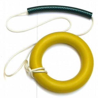 Training hammer for beginners and children.  Quoit on a rope with a simple handle