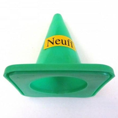 Small green plastic break-line cone for athletics track events