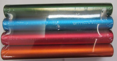Set of 8 coloured aluminium relay batons