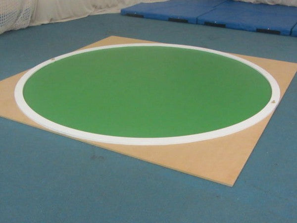 MDF circle for indoor discus.