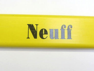 Yellow top bar for a hurdle.  Neuff Branding