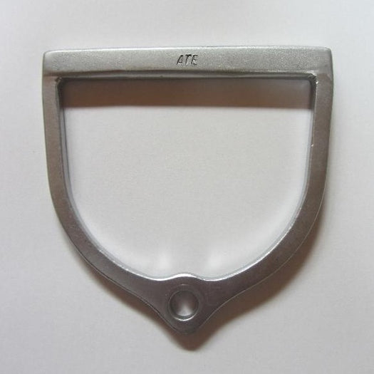 Straight-grip cast aluminium handle for attaching to hammer for hammer throw events.