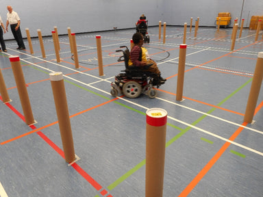 Cerebal palsy wheelchair slalom