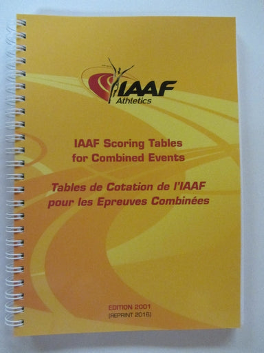 Scoring tables to download from IAAF website