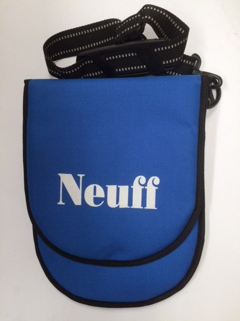 padded pouch bag to hold a double discus with shoulder strap and carry handle.  various colours