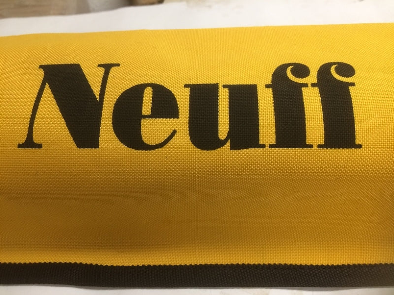 Soft yellow Neuff carry bag for one or two javelins.  Made by Nelco