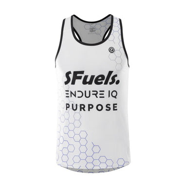 Purpose SFuels EndureIQ racing singlet for hot weather.  Front view